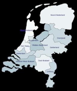 Regio indeling